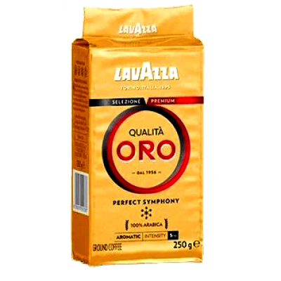 Кофе молотый Lavazza Qualita Oro 250 г по цене 118 грн.